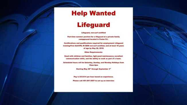 Help Wanted: Lifeguard for Nudist Campground in Rhode Island