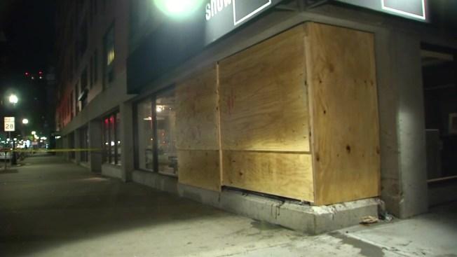 Car Smashes Into Boston Furniture Store
