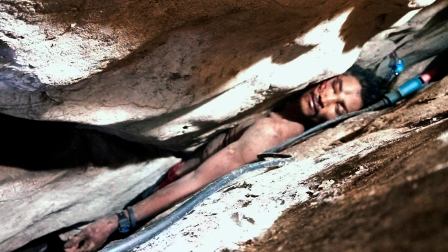 Cambodian Rescued After 4 Days Wedged in Mountain Rocks