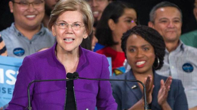 Rep. Ayanna Pressley Backs Warren for President, Citing Her Fighting for the People