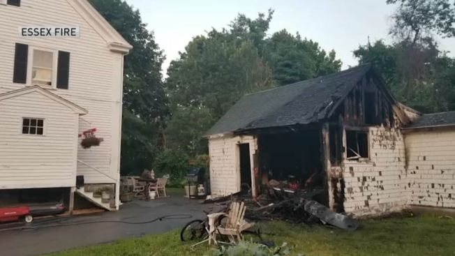 Fire Destroys Shed In Essex Mass Nbc10 Boston