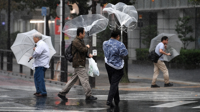 Heavy Rain, Winds Lash Tokyo as Powerful Typhoon Hits Japan