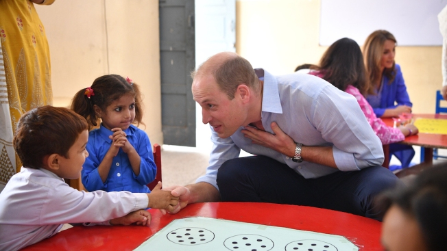 Prince William and Kate Middleton Share Sweet Moments With Students During Pakistan Tour
