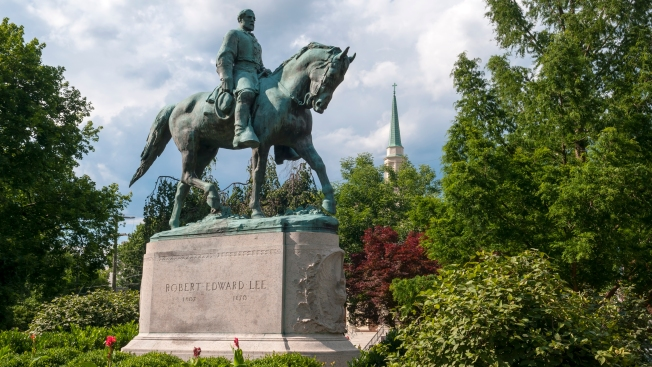 Robert E. Lee Statue vandalized ahead of KKK rally in Charlottesville