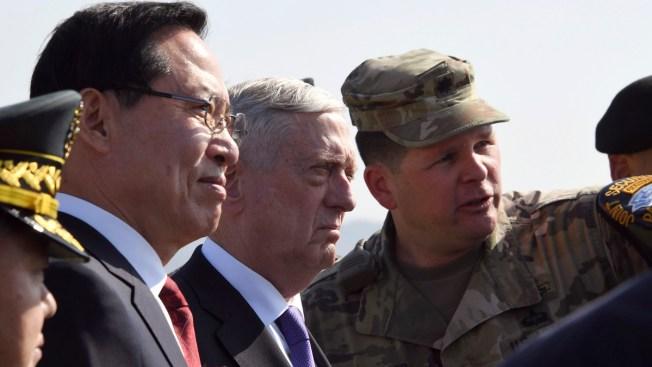 Pentagon Chief Mattis Stresses Diplomacy at Heavily Armed North Korean Border