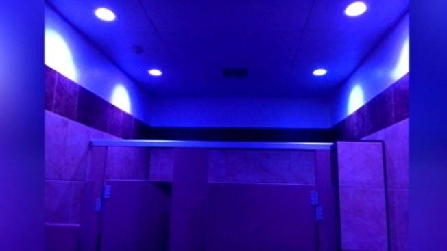 pa gas station hopes blue lights in bathroom can deter drug use