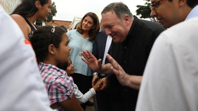 US Secretary of State Visits Venezuelan Migrants in Colombia
