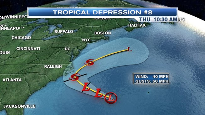 Tropical Depression Forms Off East Coast
