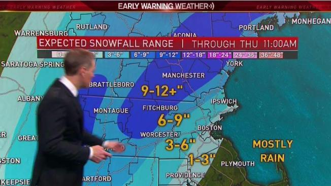 Nor Easter To Bring Steady Heavy Snow For Some Across New England