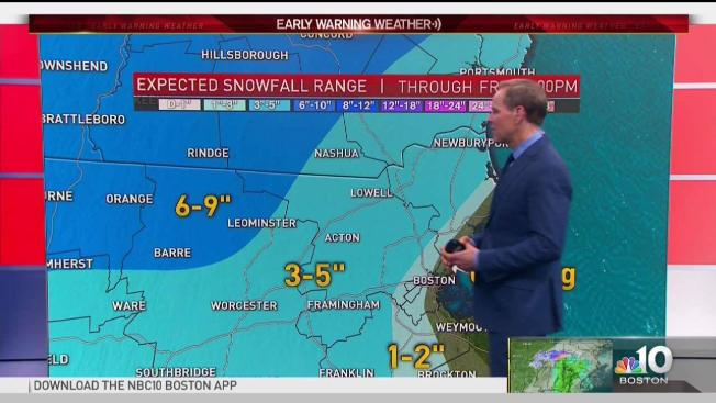 Weather Map Nh.Winter Storm Watches Issued For Parts Of Mass Nh Nbc10 Boston