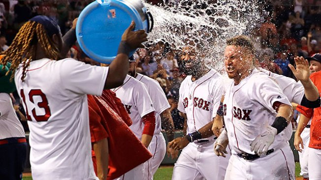 Red Sox Walk Off On Christian Vazquez's 3 Run Blast