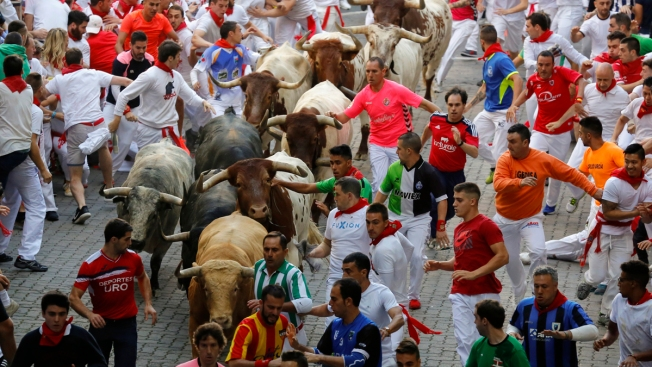2 Americans Gored in Pamplona's First Running of the Bulls This Year