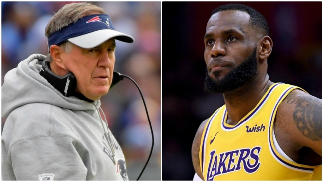 Count the Rings: Bill Belichick, LeBron James Cross Paths at Celtics Game