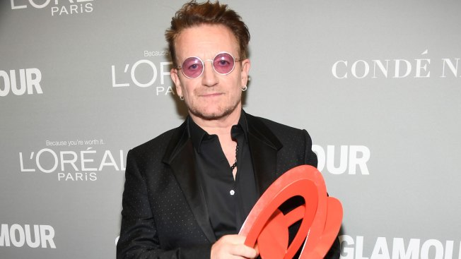 Bono Accepts Glamour's First 'Man of the Year' Award