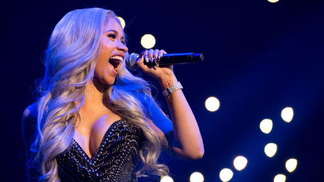 Cardi B Celebrates Grammy Nods, Hit Songs at Label Party
