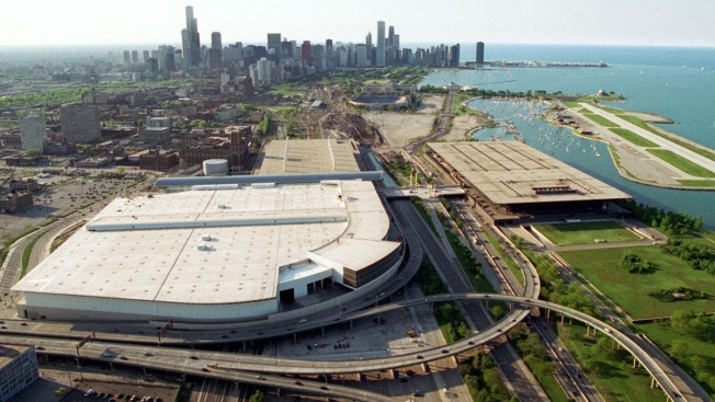 2 Fast-Speeding Cars, 1 Crash Into Chicago Convention Center With Vehicle Bursting Into Flames