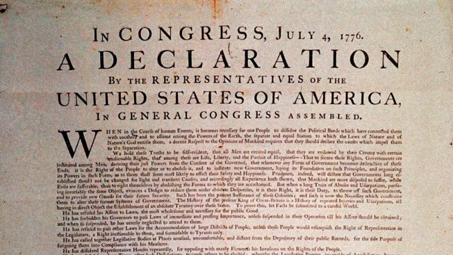 photograph about Printable Copy of the Declaration of Independence titled Primary Reproduction of Declaration of Freedom upon Demonstrate for