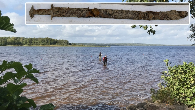8-Year-Old Girl Pulls Pre-Viking Sword From Swedish Lake