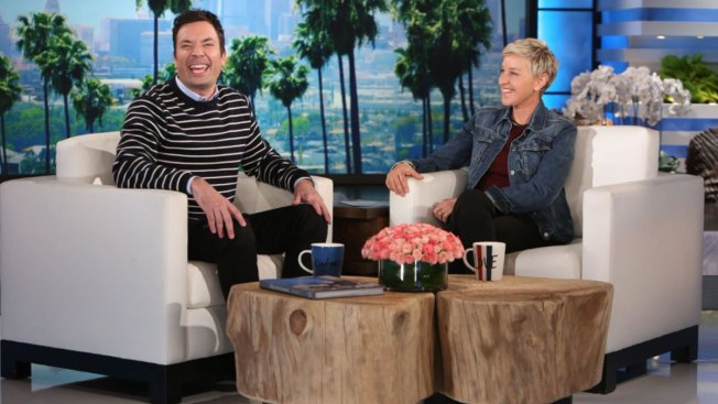 Fallon Joins Ellen to Talk Golden Globes