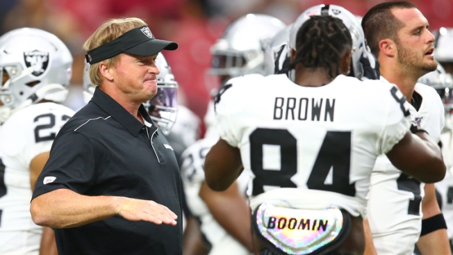 Gruden's Advice for Patriots in Dealing With Antonio Brown? 'Good Luck'