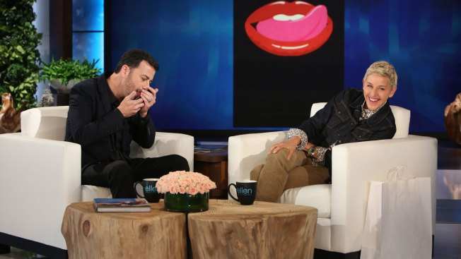 Jimmy Kimmel Makes Out with the iPhone 7 on 'Ellen'