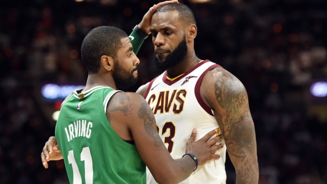 4a0ac7628e3 LeBron Likes Instagram Photo of Kyrie in Lakers' Jersey - NBC10 Boston