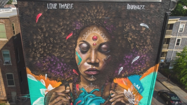 Love Thyself: Beautiful New Mural in Dorchester