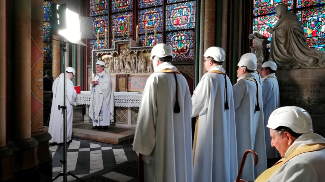 Notre Dame Celebrates First Mass Since April Fire
