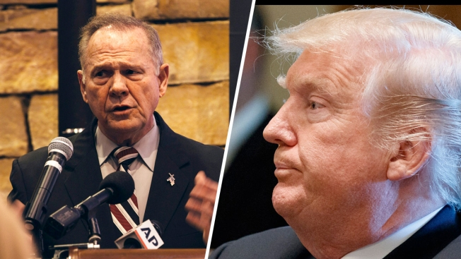 Trump Heartily Endorses Moore as GOP Comes to Grips With Him