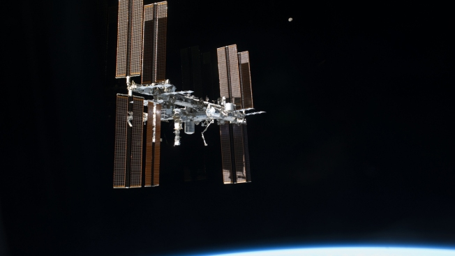 Astronauts Patch Small Hole Leaking Air on Space Station