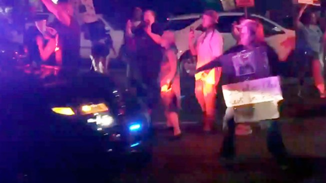 Sacramento County Sheriff Blames 'Paid Protesters' After Patrol Car Hits Protester