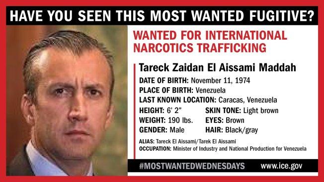 ICE: Former Venezuelan VP Among 10 Most Wanted Fugitives