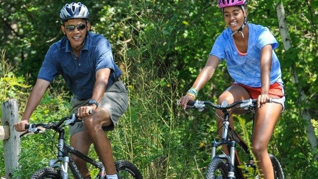 Obamas Head to Martha's Vineyard as Trump Makes His Way to New Jersey