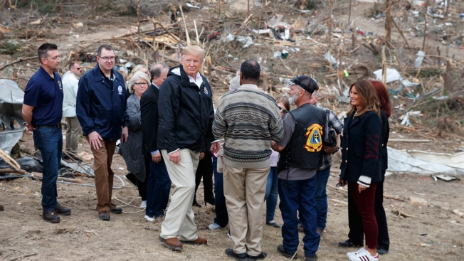Trump Pays His Respects to 23 Killed by Alabama Tornado