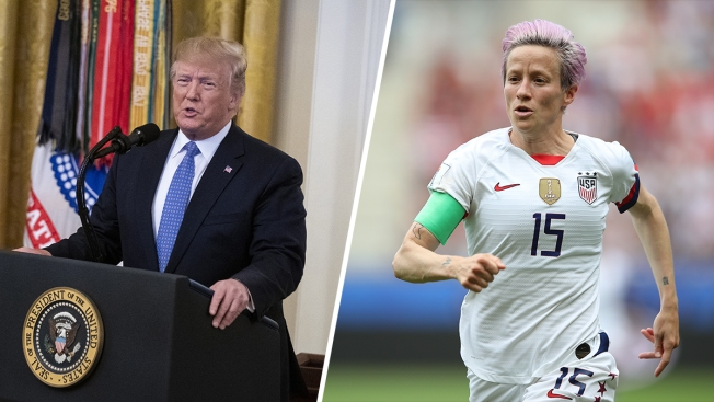 Trump Tells US Soccer Star Megan Rapinoe to 'Never Disrespect' White House