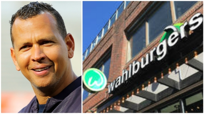 A-Rod Loses Bet to Mark Wahlberg, Serves Up Burgers at Wahlburgers Fenway