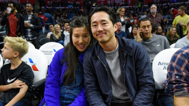 'Walking Dead's' Steven Yeun Reunites With Co-Stars at His Wedding