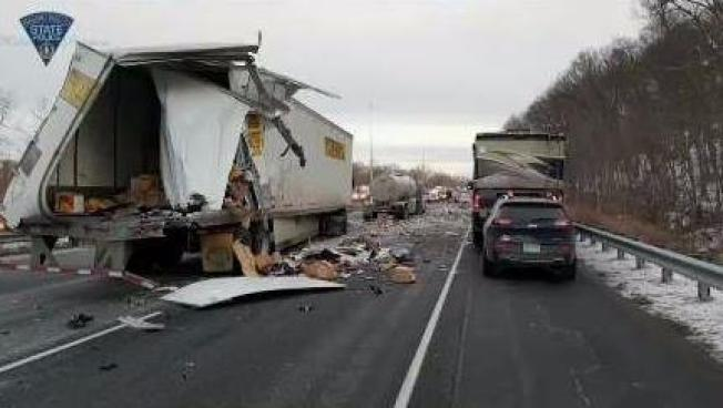 I-91 North Closed in Enfield After Serious Crash in Mass.