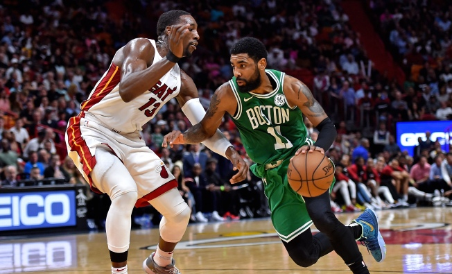 Celtics' Kyrie Irving Gifts Jersey, Sneakers to Young Fan After Game Vs. Heat