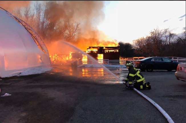 Dozens of animals die after MA barn goes up in flames