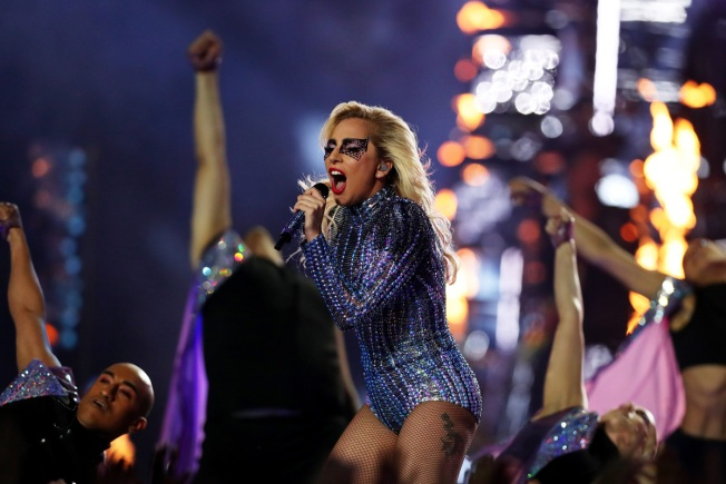 Lady Gaga Provides Fireworks in Halftime Performance