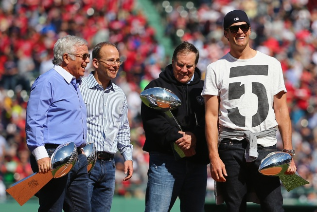 Robert, Jonathan Kraft Talk Tom Brady's Contract, Future of Patriots' Power Trio