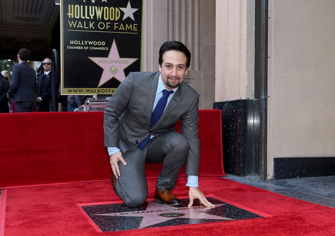 Lin-Manuel Miranda Receives Star on Hollywood Walk of Fame