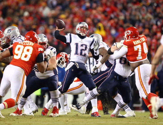 Fan Who Shined Laser at Tom Brady Reportedly Caught, Banned From Arrowhead Stadium