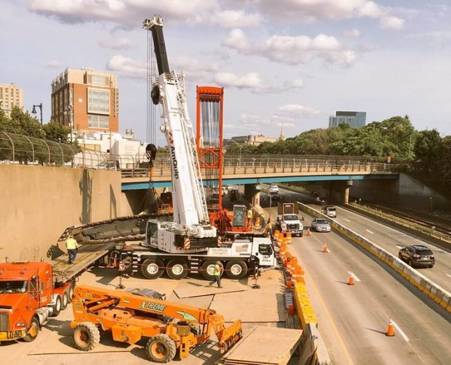Turnpike lanes reopening early in Boston amid bridge work