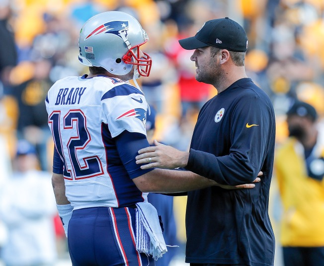 f12da6d01 Pittsburgh Steelers  Roethlisberger Asks Rival Tom Brady for His Jersey