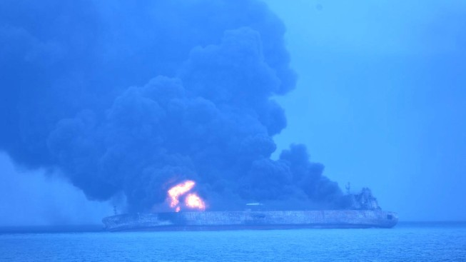 Crew Members Still Missing After Oil Tanker Collision