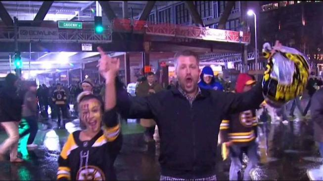 7faedfde69a Bruins Fans Celebrate Game 7 Win Over Maple Leafs