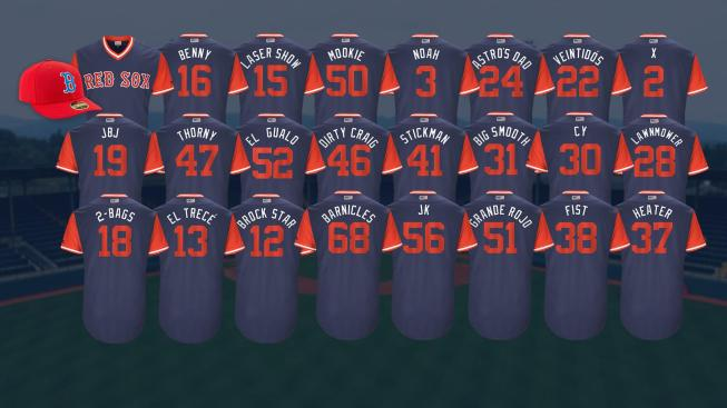 87055cb89 Red Sox Release Nicknames for Players Weekend Uniforms - NBC10 Boston