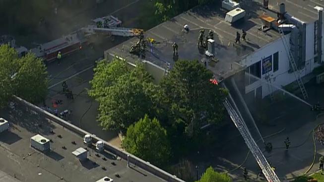 3-Alarm Fire in Waltham, Mass.